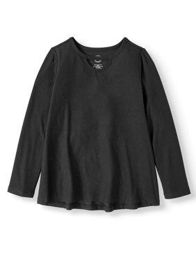 Long Sleeve Keyhole T-Shirt (Little Girls & Big Girls)