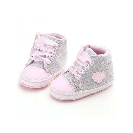 Dunk High Sneaker (Nicesee Newborn Baby Girls Laces High-Top Ankle Sneakers Soft Sole Crib Shoes)