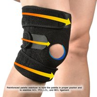 Non-slip Breathable Knee Brace Compression Sleeve Support w/ Patella Stabilizer