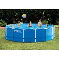 """Intex 15' x 48"""" Metal Frame Above Ground Pool with Filter Pump"""