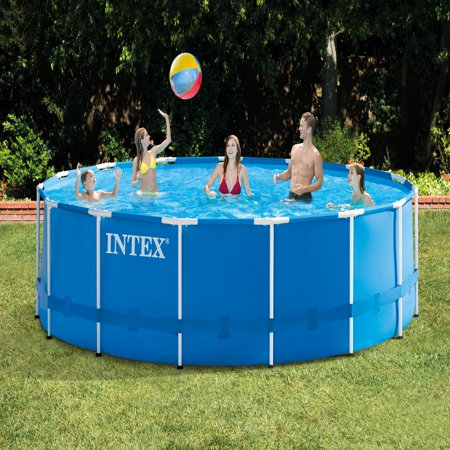 Intex 15 X 48 Quot Metal Frame Above Ground Pool With Filter