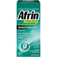 Afrin No-Drip Severe Congestion Cold & Allergy Relief Pump Mist, 0.5 Fl Oz
