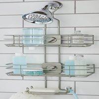 Better Homes & Gardens Adjustable Shower Caddy, Satin Nickel