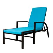Kinbor Outdoor Indoor Patio Adjule Brown Pe Wicker Pool Garden Balcony Beach Chaise Lounge Chair