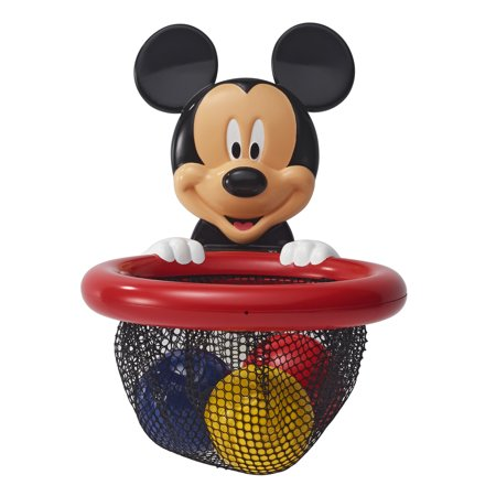 Disney Baby Mickey Mouse Shoot, Score and Store, Bath Toy Storage Basket