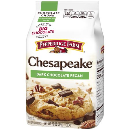 Pepperidge Farm Chesapeake Crispy Chesapeake Dark Chocolate Pecan Cookies, 7.2 oz. Bag