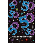 The Party Continues 50th Birthday Tablecover