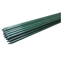 Garden Poles Tree Stake Cucumber Stake Fence Stake Never Rust 1/4In x 4Ft Rabbit Proof Fence Stakes For Raised Bed (12)