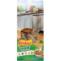 Friskies Indoor Delights Chicken, Beef, Salmon, Cheese, Garden Greens Flavors Adult Dry Cat Food, 6.3 lb