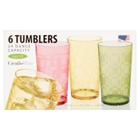 Creative Ware 24 Ounce Capacity Tumblers, 6 count