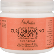 Coconut & Hibiscus Curl Enhancing Smoothie - Controls Frizz and Defines Soft Curls in Thick Hair - Sulfate-Free with Natural and Organic Ingredients - Hydrates Curly Hair and Adds Shine (12 oz)