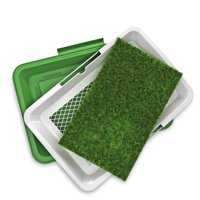 """Yippy Indoor Puppy Potty Trainer, Artificial Grass Bathroom Mat 18.5"""" x 13"""""""