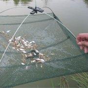 "31.5""x 31.5"" Foldable Mesh Trap Baits Cast Crab Minnow Crawdad Shrimp Dip Net"