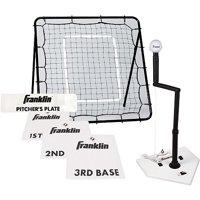 Franklin Sports MLB Baseball & Softball Pitch Return, Tee & Base Set