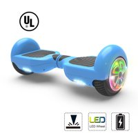 "Hoverboard Two-Wheel Self Balancing Electric Scooter 6.5"" UL 2272 Certified Flash LED Wheel (Blue)"