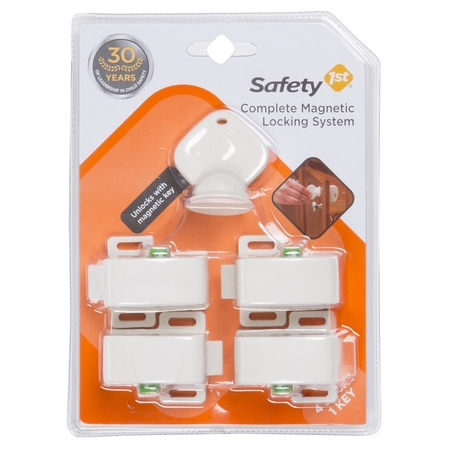 Safety 1st Safe (Safety 1st Complete Magnetic Locking System (4 locks, 1 key), White )