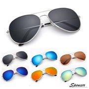 fea5afa3714 Spencer Retro Aviator Sunglasses Ultralight Driving UV400 Mirrored Outdoor  Glasses for Men Women