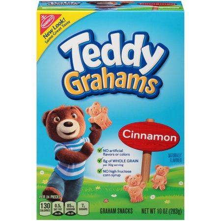 Nabisco Teddy Cinnamon Graham Snacks, 10 Oz. (Oatmeal Chocolate Chip Cookies Whole Wheat Flour)