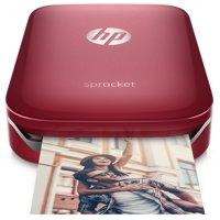 HP Sprocket Portable Photo Printer, Print Social Media Photos on 2x3 Sticky-Backed Paper - Black (X7N08A)