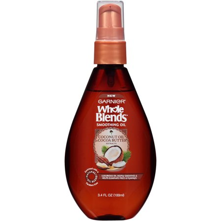 Garnier Whole Blends Smoothing Oil with Coconut Oil & Cocoa Butter Extracts 3.4 FL