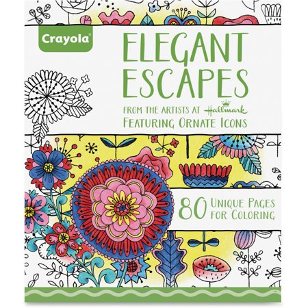 Crayola Elegant Escapes Adult Coloring Book With 80 - Halloween Coloring Pages Crayola