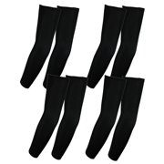 Elixir Golf The 4 Pairs Black UV Protective Comression Arm Sleeves for Bike Hiking Golf Cycling All Outdoor Activies