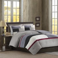 Better Homes and Gardens Microsuede Pieced Bedding Comforter Mini Set