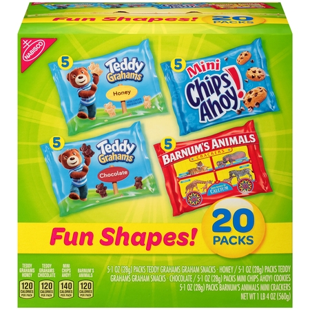 Nabisco Fun Shapes! Cookies & Crackers Variety Pack, 1 Oz., 20