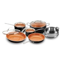 Gotham Steel 10-Piece Nonstick Copper Cookware Set, Black