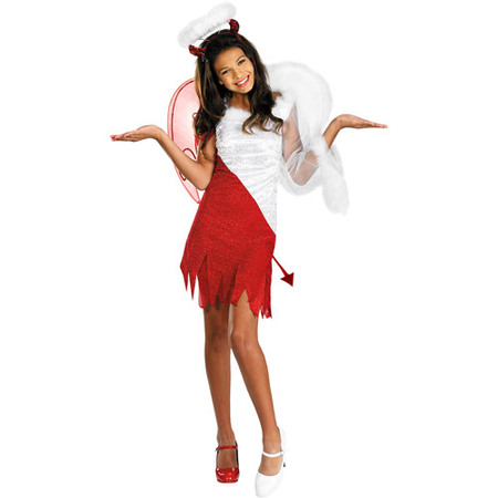 Heavenly Devil Child Halloween Costume - Makeup Halloween Devil