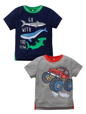 Short Sleeve Graphic Tee, 2pk (Baby Boys and Toddler Boys)