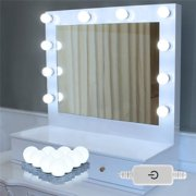 Eecoo Makeup Mirror Lights Hollywood Style Led Vanity 10 With Touch Stepless Dimmer