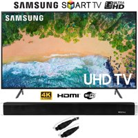 "Samsung UN55NU7100 (UN55NU7100FXZA) 55"" NU7100 Smart 4K UHD TV (2018) with Vivitar 24-Inch Wall Mountable Wireless Bluetooth Soundbar"