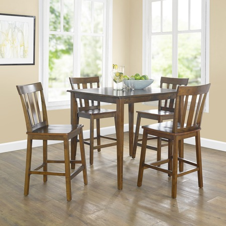 Mainstays 5-Piece Mission Counter-Height Dining Set (high kitchen table set for 4)