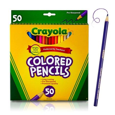 Crayola Colored Pencils Coloring Supplies 50 Count Walmart Com