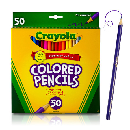 - Crayola Colored Pencils, Coloring Supplies, 50 Count