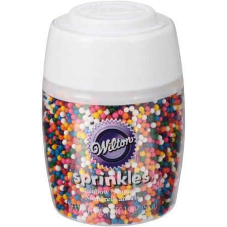 Color Non Pareils ((4 Pack) Wilton Short Stack Rainbow Nonpareils Sprinkles )