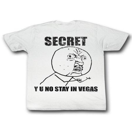 Y U No Guy Meme Trending #YUNo Secret Y U No Stay in Vegas Adult T-Shirt 5X - Vegas Halloween Meme