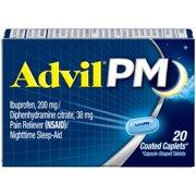 Advil PM (20 Count) Pain Reliever / Nighttime Sleep Aid Caplet, 200mg Ibuprofen, 38mg Diphenhydramine