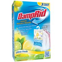 (2 pack) DampRid Hanging Moisture Absorber, Citrus Fresh Scent, 3 x 14 Oz