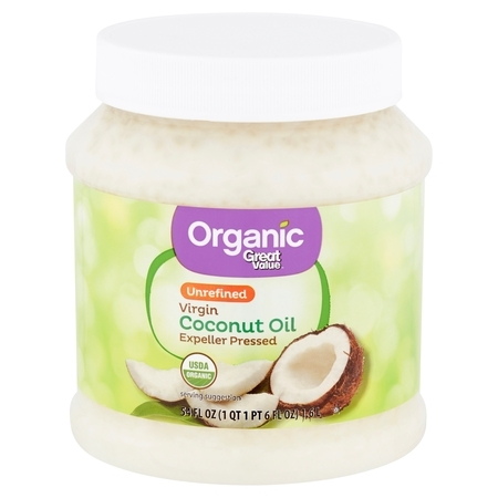 Great Value Organic Unrefined Virgin Coconut Oil, 54 fl oz (Coconut Mall-shops)