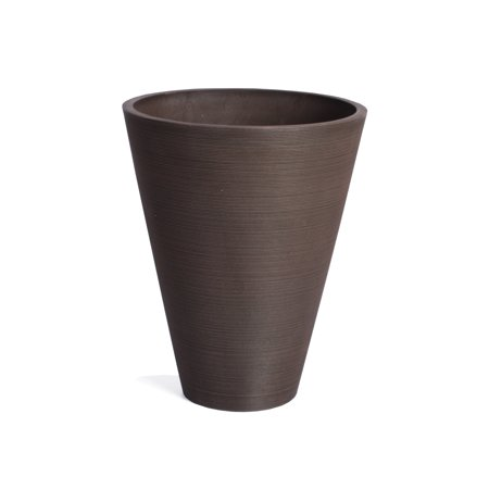 Veradek Kobo Round Planter - Black - 14 (Bronze Resin Planter)