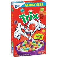 (2 Pack) Trix Cereal, Fruit Flavored Corn Puffs Cereal, 18.4 oz