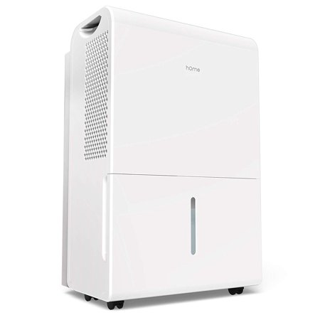 hOmeLabs 4000 Sq Ft Dehumidifier 70 Pint Energy Star Safe Mid Size Portable Dehumidifiers for Basements & Large Rooms with Fan Wheels and Continuous Drain Hose Outlet to Remove (Best Keystone Dehumidifiers With Pumps)