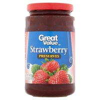 (4 Pack) Great Value Strawberry Preserves, 18 oz