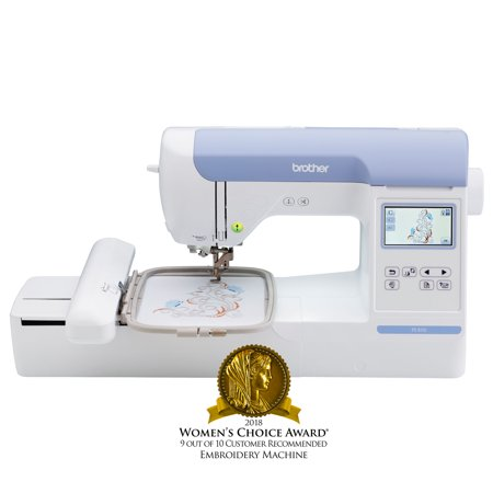"Brother PE800, 5""x7"" Embroidery-only machine with color touch LCD display (White Embroidery Machine)"