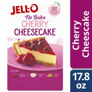(3 Pack) Jell-O No Bake Cherry Cheesecake Mix, 17.8 oz Box