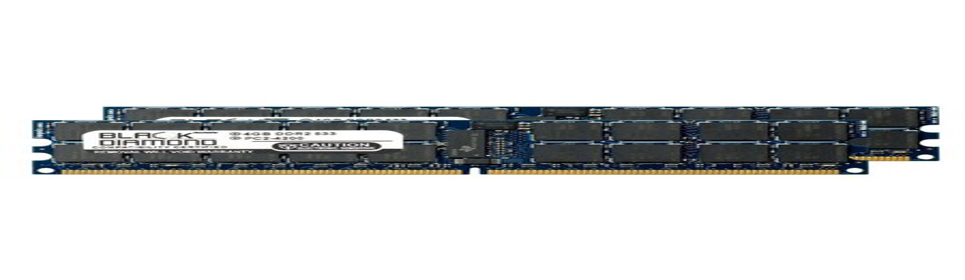 8GB 2X4GB Memory RAM for Tyan Tank GT24 (B5377) DDR2 RDIMM 240pin PC2-4200 533MHz Black Diamond Memory Module Upgrade