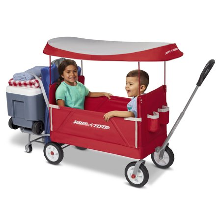 Radio Flyer, 3-in-1 Tailgater Wagon with Canopy, Folding Wagon, - Red Wagon Toy