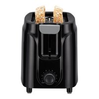 Mainstays Two Slice Toaster, 6-Settings, Black